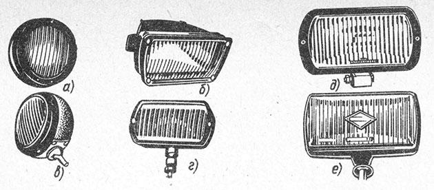 Типы автомобильных противотуманных фар и их формы