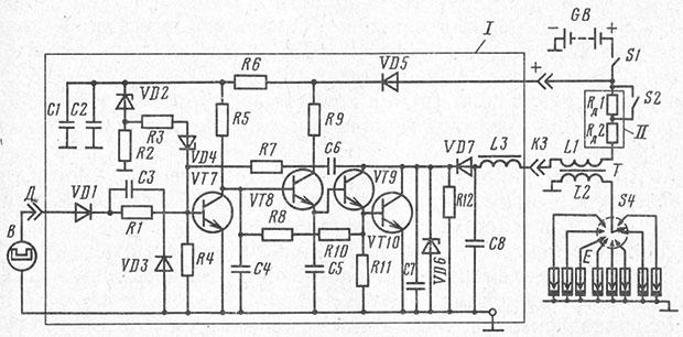 Искра ГАЗ-Н - схема бесконтактной системы зажигания автомобиля и подробное описание принципа работы на Времонт.su