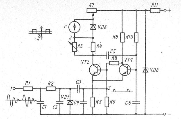 Принципиальная схема тахометра ТХ193