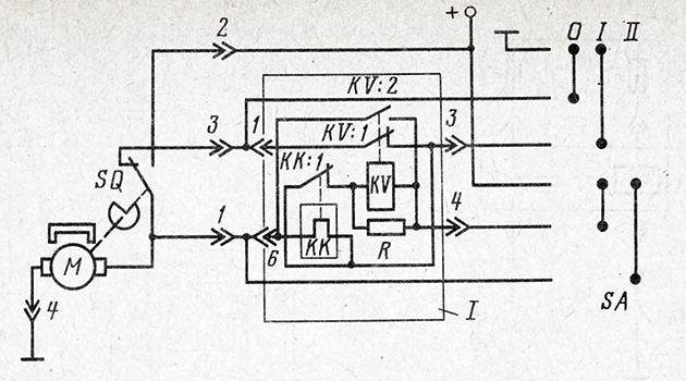 Схема управления стеклоочистителем с реле РС514 в отечественных автомобилях