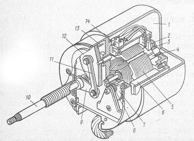 Устройство малогабаритного моторедуктора очистителя фар