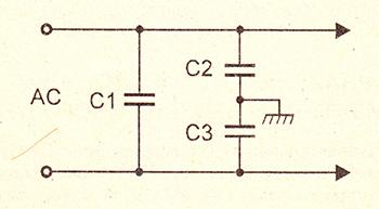 Схема сетевого фильтра для блоков питания бытовой техники