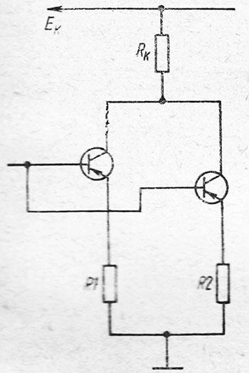 Схема выравнивания токов через параллельно включенные транзисторы