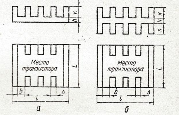конструкция радиаторов для транзисторов