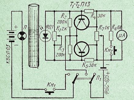 схема прибора для определения мутности раствора