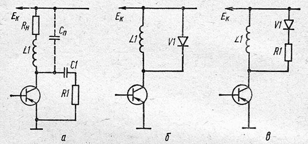 Схемы защиты транзистора от перенапряжений
