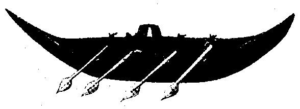 Модель гребной лодки из серебра 400г. до н. э.
