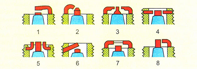 Виды боковых электродов свечи зажигания