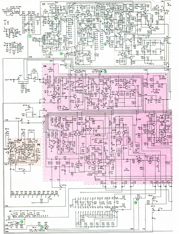 Принципиальная схема осциллографа С1-65