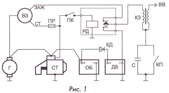 Схема подключения дополнительного аккумулятора автомобиля для эксплуатации в зимний период