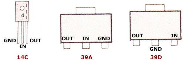 цоколевка микросхем стабилизаторов напряжения an- серии