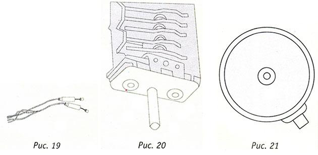 Лампы панели управления, переключатели, нагревательная пластина, конфорка для электроплит