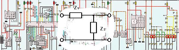 представление электрической схемы как Г-образный четырехполюсник