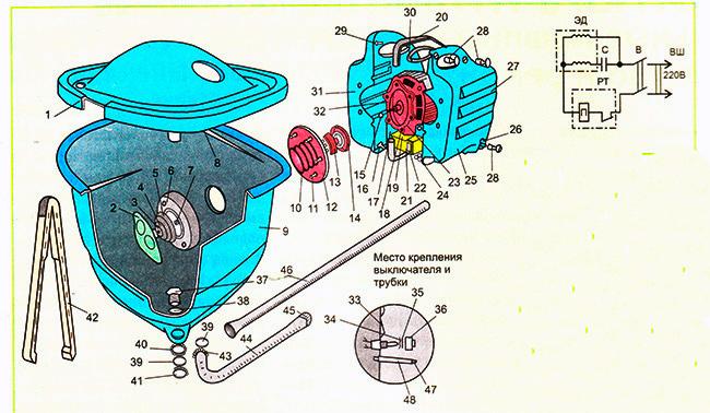 Устройство стиральной машины Малютка 2