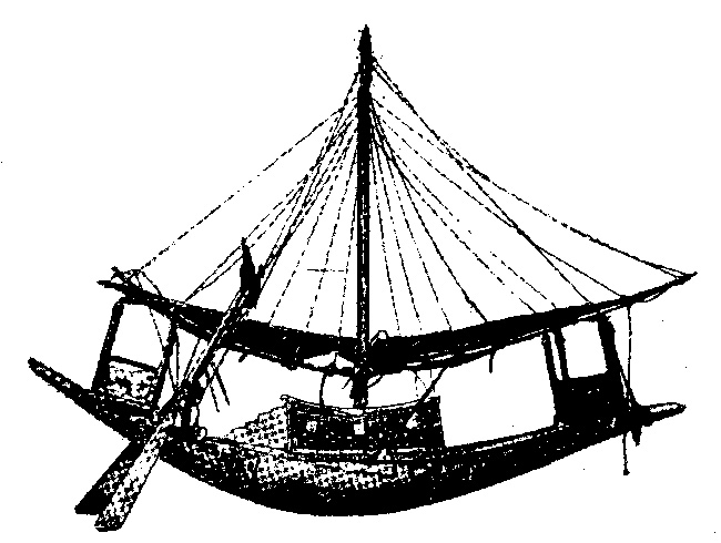 модель судна из гробницы Тутанхамона