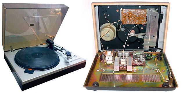 Принципиальная электрическая схема электропроигрывателя Советского производства Радиотехника ЭП101 стерео описание и характеристики
