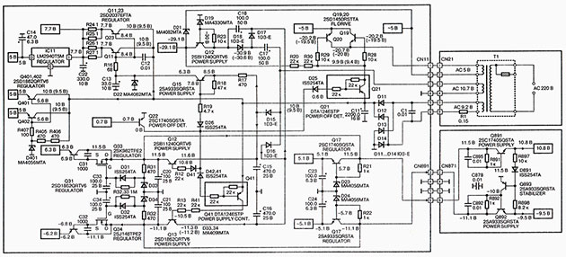 Принципиальная схема блока питания Technics SL-PS770A