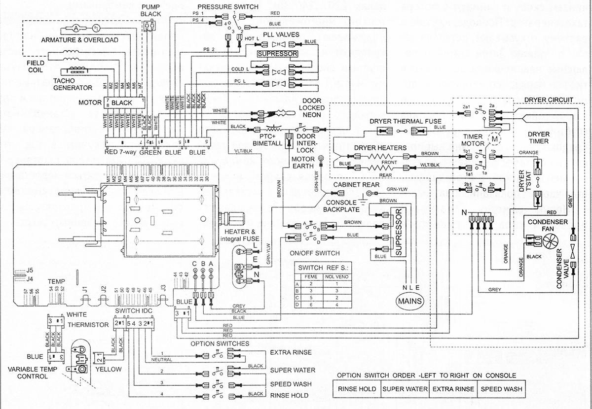 схема стиральной машины General Electric GE 8602VWW — Premium