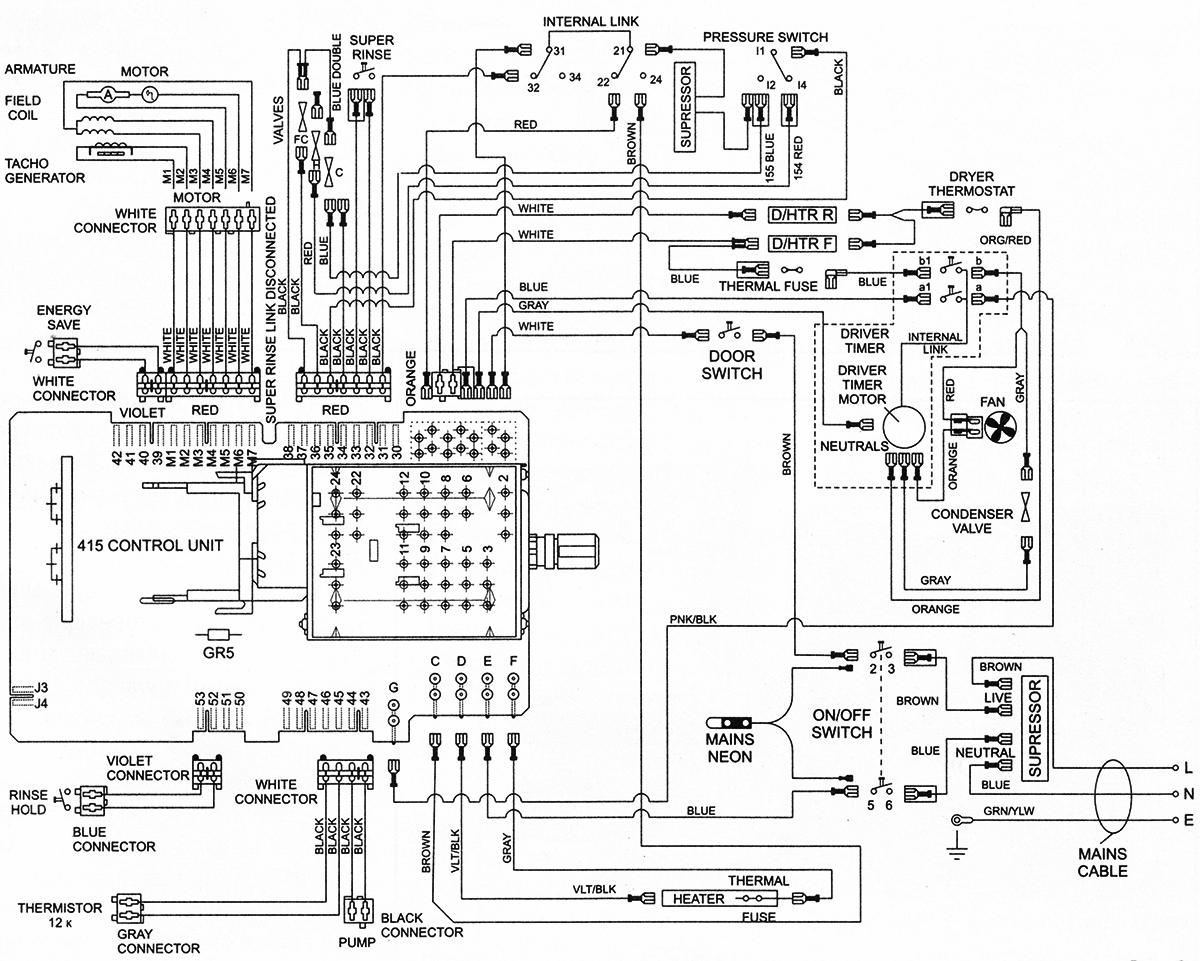 схема стиральной машины General Electric GE 8802TWW