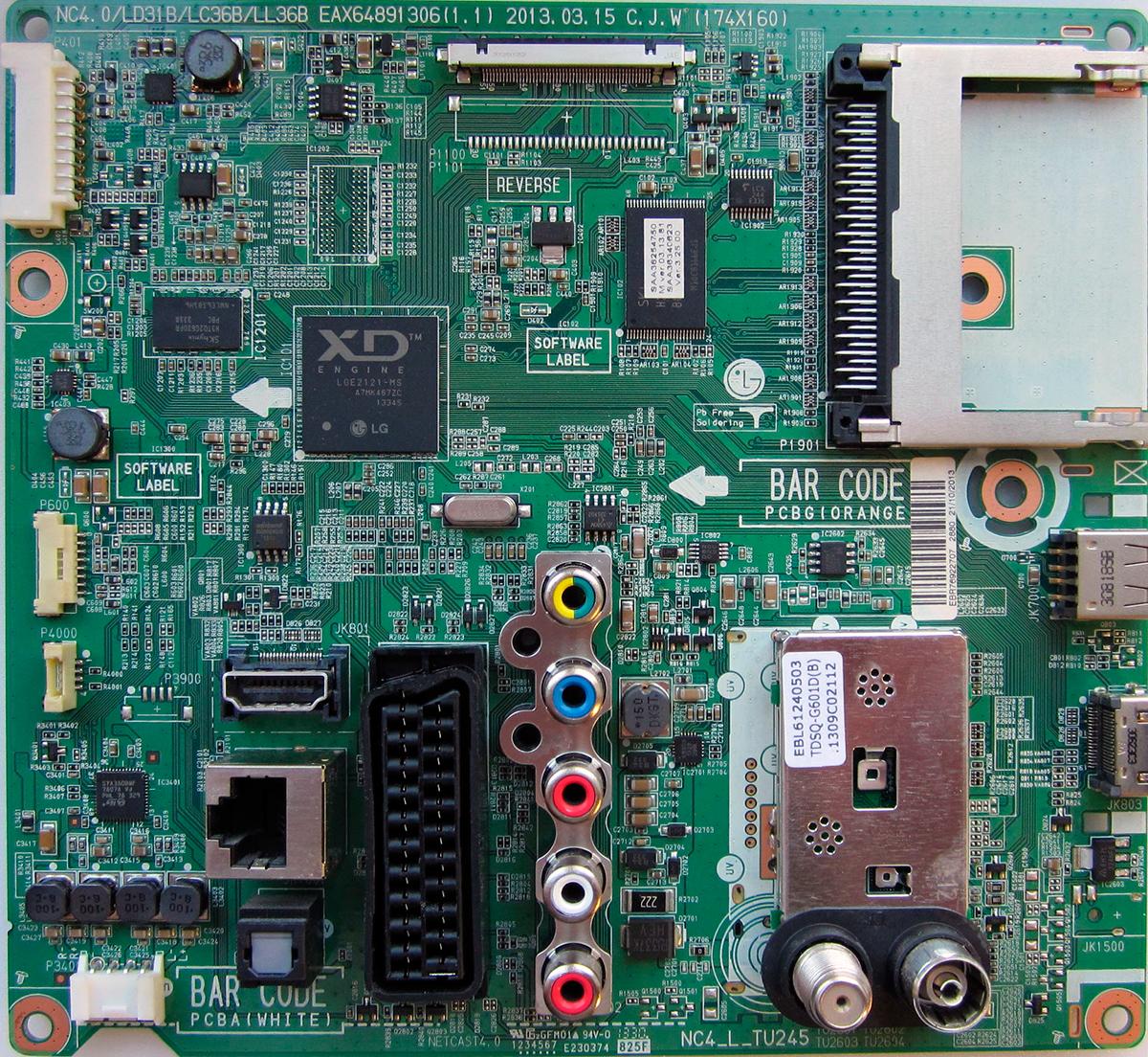 платы системной платы main board телевизора LG 32LN540V