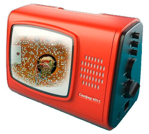 Блок питания телевизора САПФИР-401. Советские телевизоры УПТИ-23-IV-1