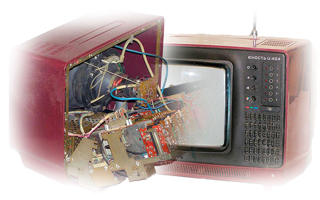 Схема блока питания Советского телевизора Юность Ц 404