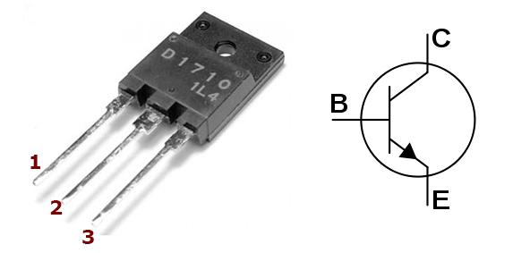 Цоколевка транзистора 2sd1710