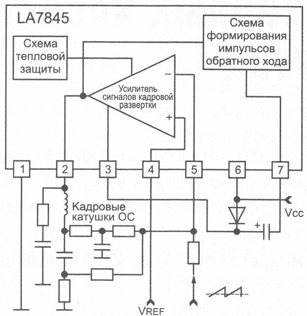 схема микросхемы LA7845
