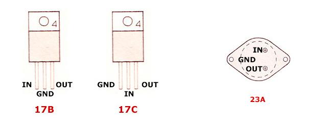 цоколевка стабилизаторов напряжения LM 78xx-79xx серии