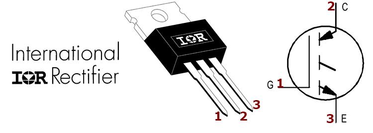 Цоколевка транзистора IRG4BC40W
