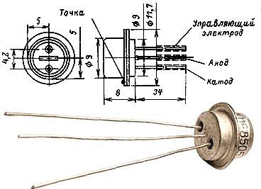 Как выглядит тиристор КУ103 и его цоколевка