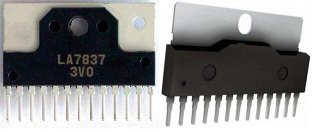 Микросхемы LA7837, LA7838