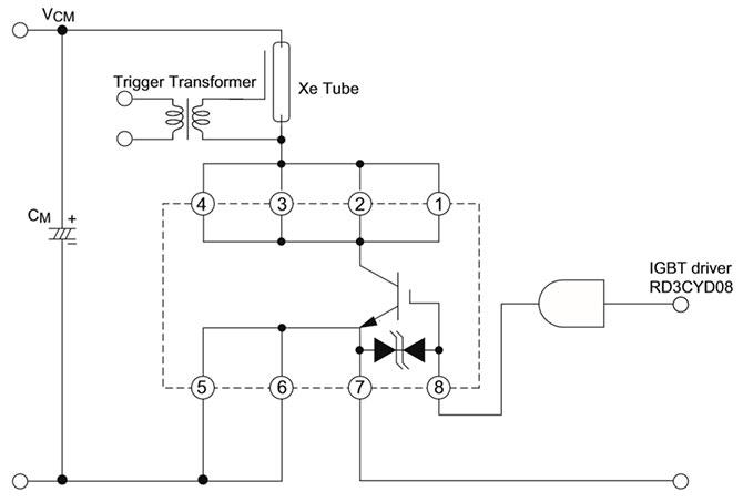Упрощенная схема включения транзистора igbt транзистора RJP4002ASA