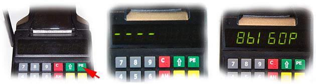 Как включить кассовый аппарат Атол 90Ф, информация на дисплее