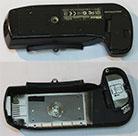 Нижняя часть корпуса с крышкой батарейного отсека для фотокамер Nikon D70