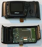 Задняя часть корпуса с дисплеем и кнопками управления в сборе для фотокамер Nikon D70