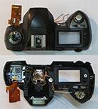 Верхняя часть корпуса для фотоаппарата Nikon D70 со вспышкой