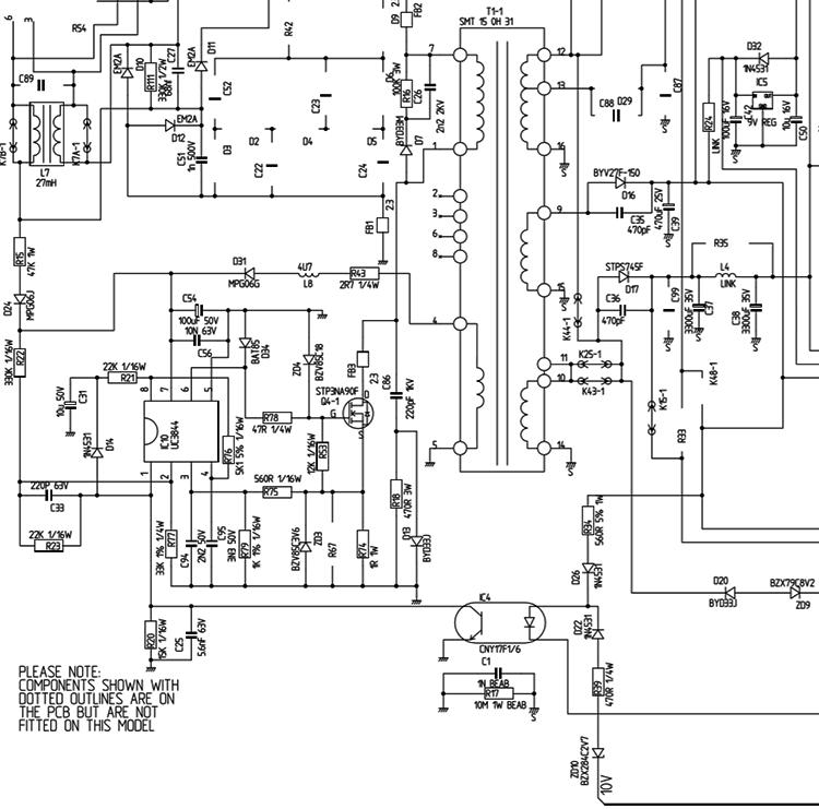 Пример реализации импульсного блока питания на базе Ш�М-контроллера UC3844
