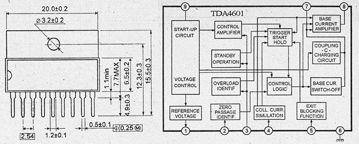 структурная схема и назначение выводов tda4601