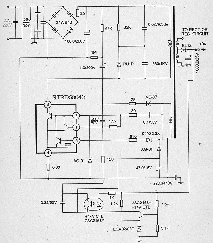 Схема импульсного блока питания на микросхемах strd6004x