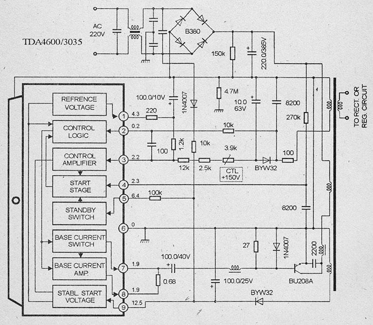 Схема импульсного блока питания на микросхемах tda4600