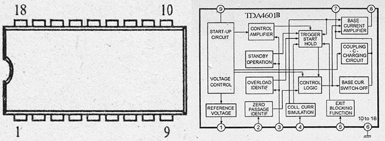 структурная схема и назначение выводов tda4601b