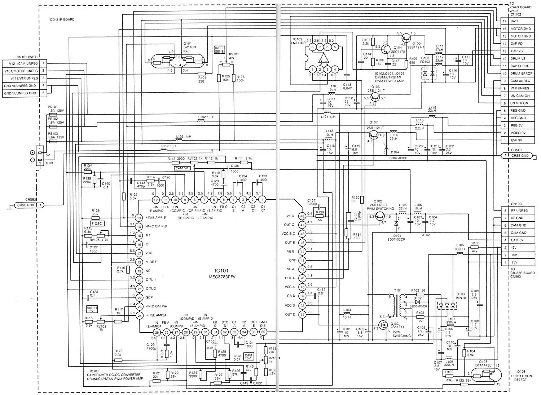 Схема блока питания SONY CCD-TR50E