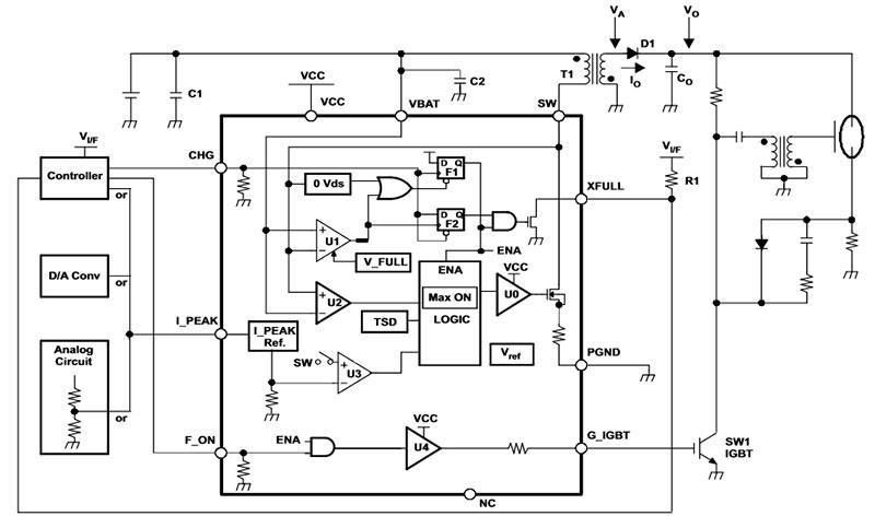 микросхема для вспышек TPS65560 типовая схема