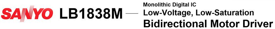 Микросхема LB1838m : техническая документация