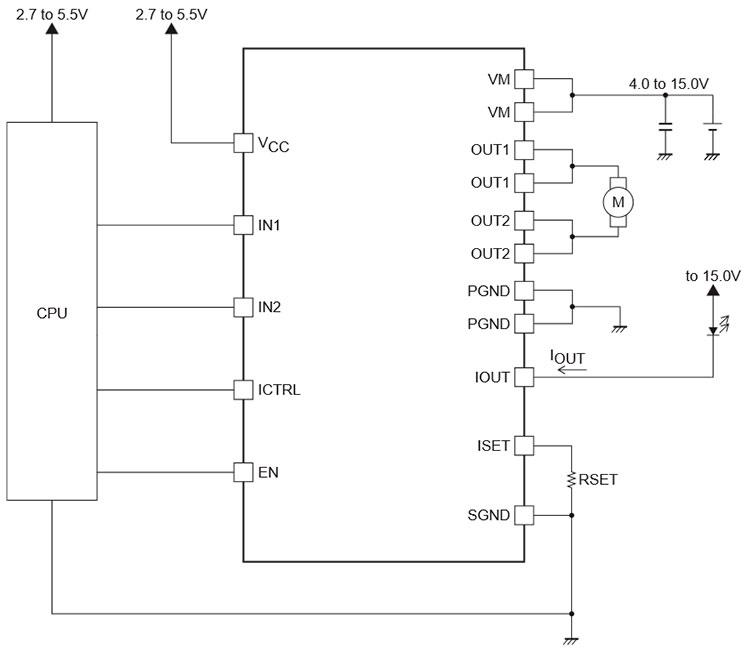 упрощенная схема включения драйвера LV8401