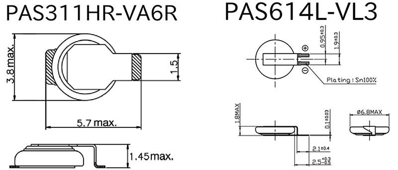 �онисторы PAS614L-VL3, PAS311HR-VA6R внешний вид