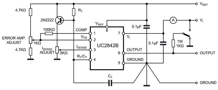 Типовая схема микросхем KA3842, UC3842, UC2842