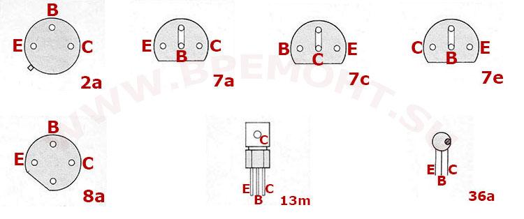Цоколевка транзисторов BC 347 - BC 414