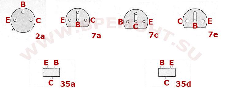 Цоколевка транзисторов BC 521 - BC 817